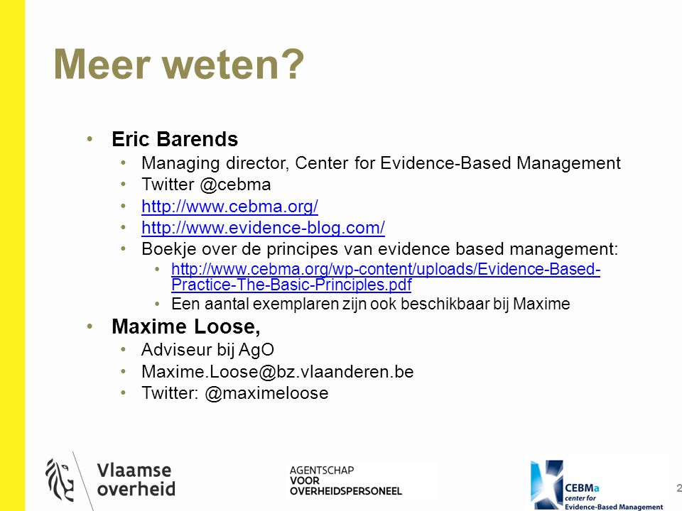 Meer weten Eric Barends Maxime Loose,