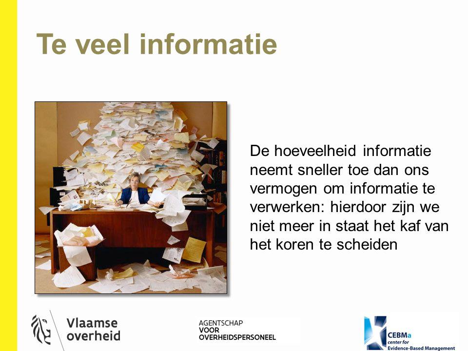 Te veel informatie