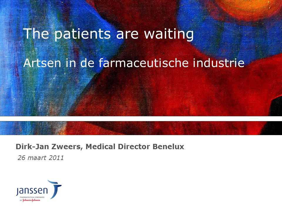 The patients are waiting Artsen in de farmaceutische industrie