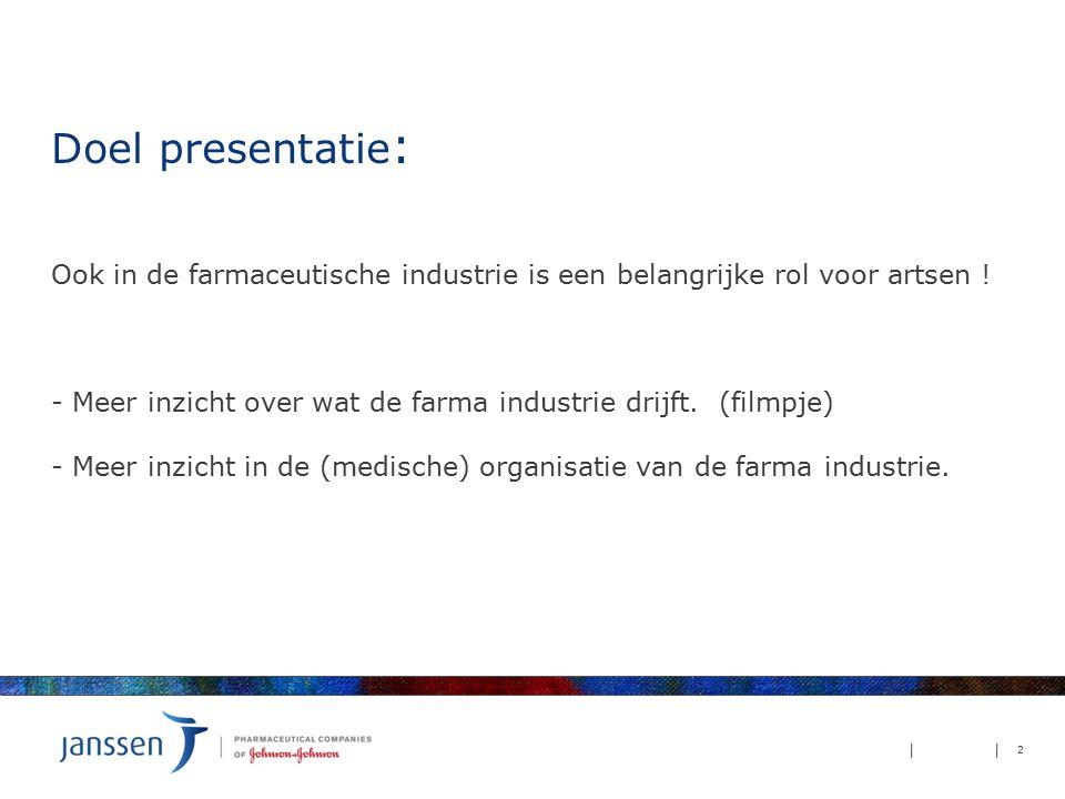 Doel presentatie: Ook in de farmaceutische industrie is een belangrijke rol voor artsen .