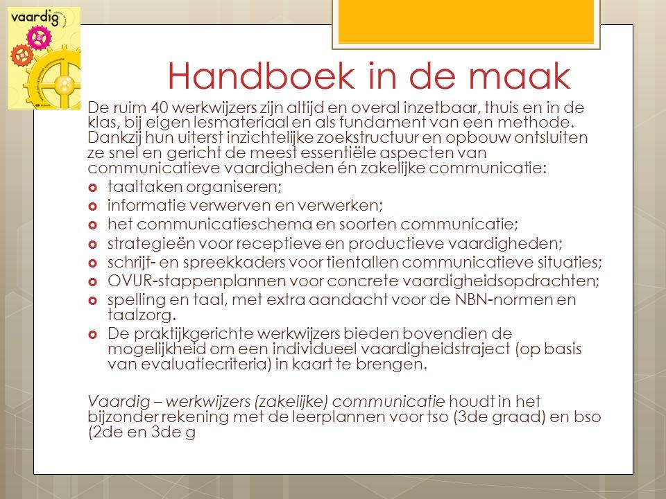 Handboek in de maak