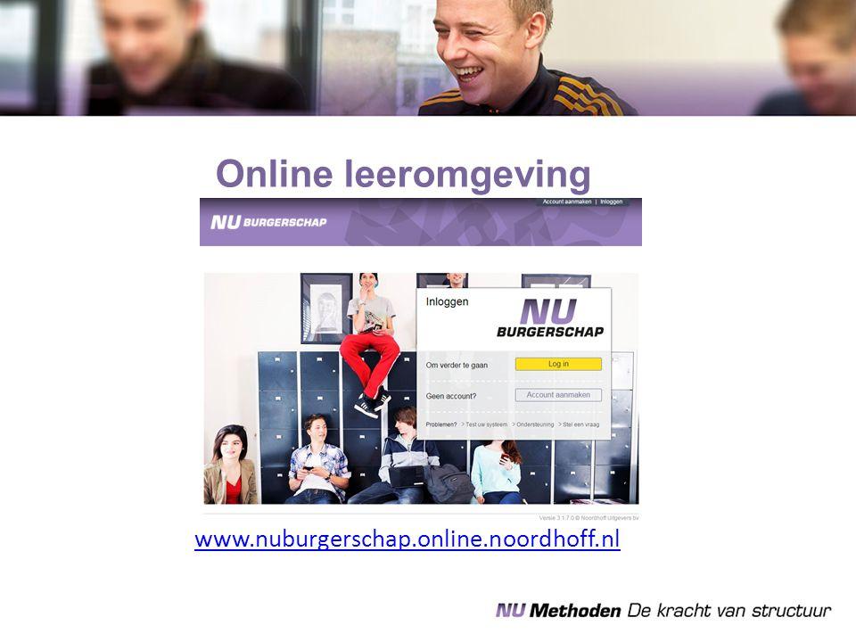 Online leeromgeving www.nuburgerschap.online.noordhoff.nl