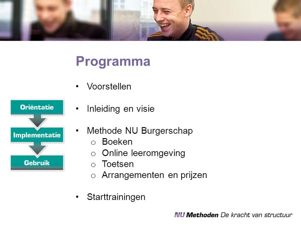 Programma Voorstellen Inleiding en visie Methode NU Burgerschap Boeken