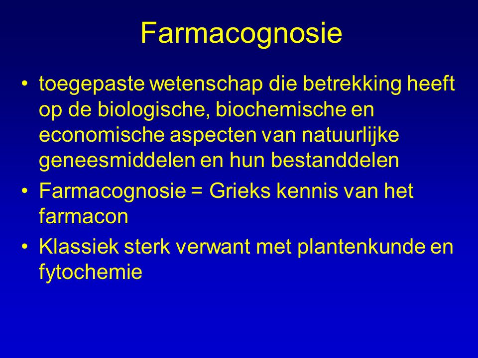 Farmacognosie