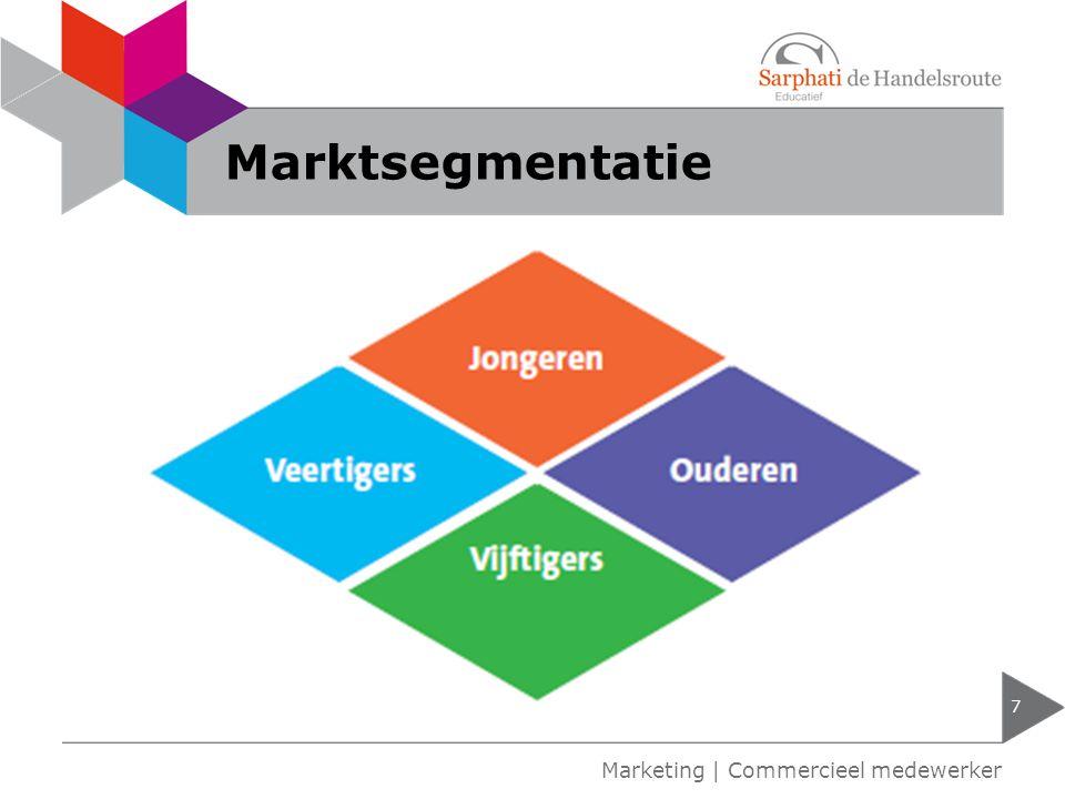 Marktsegmentatie Marketing | Commercieel medewerker