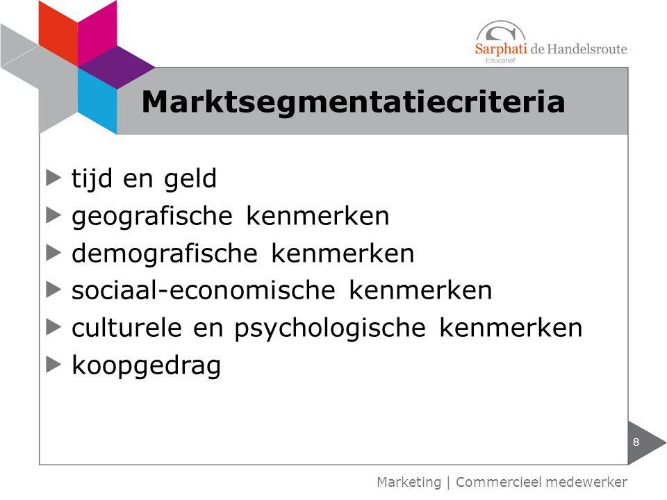 Marktsegmentatiecriteria