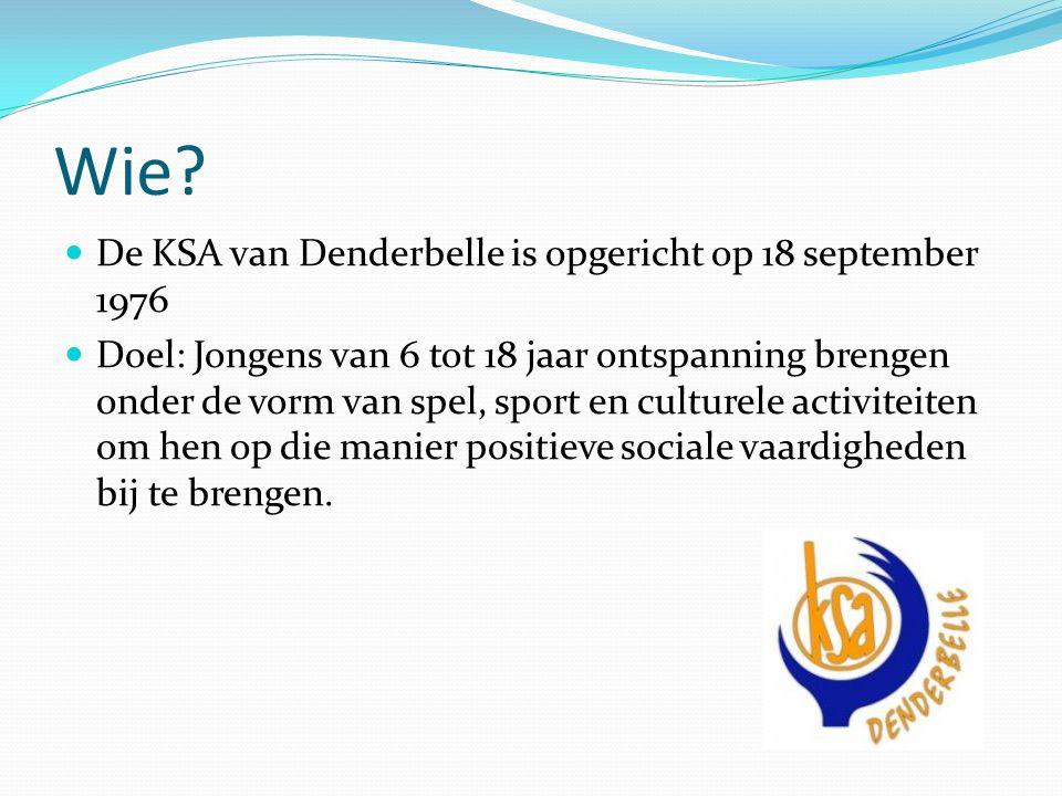 Wie De KSA van Denderbelle is opgericht op 18 september 1976