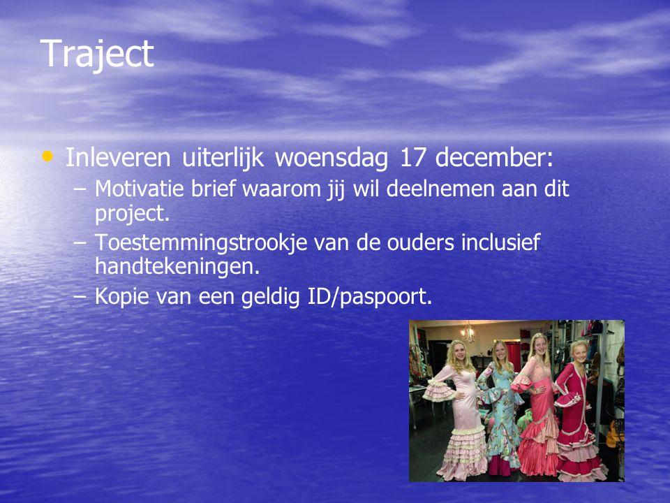 Traject Inleveren uiterlijk woensdag 17 december: