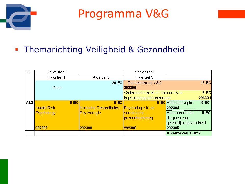 Programma V&G Themarichting Veiligheid & Gezondheid