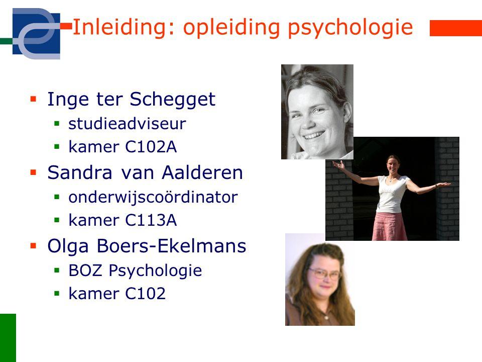 Inleiding: opleiding psychologie