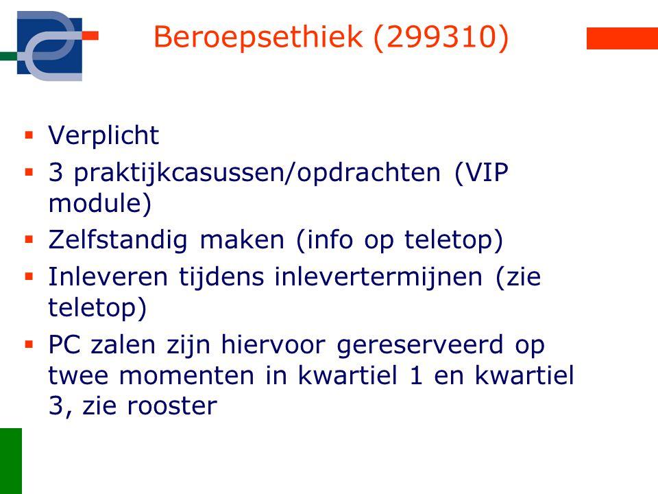 Beroepsethiek (299310) Verplicht