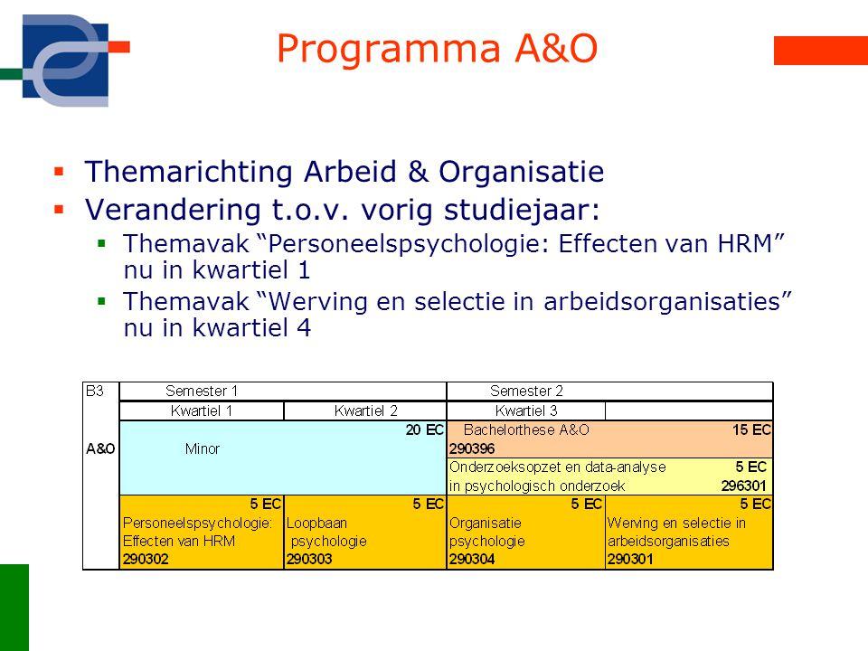 Programma A&O Themarichting Arbeid & Organisatie