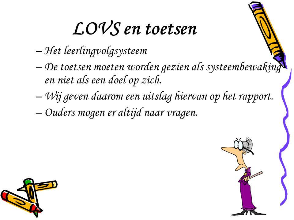 LOVS en toetsen Het leerlingvolgsysteem