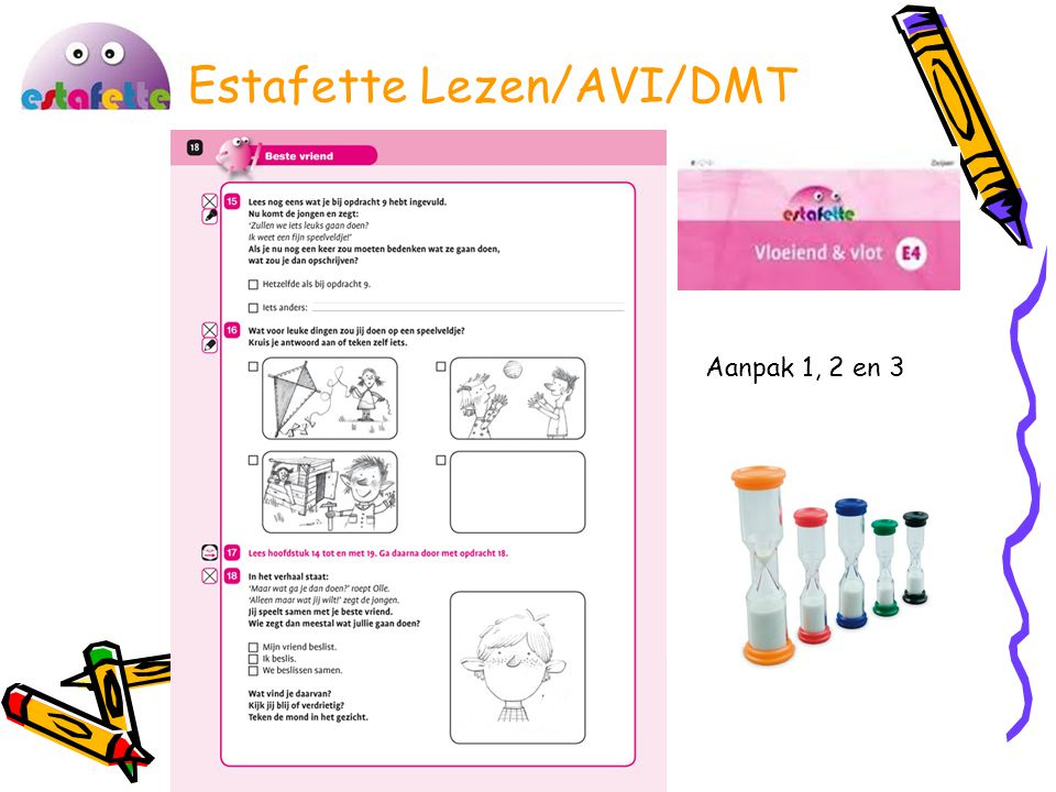 Estafette Lezen/AVI/DMT