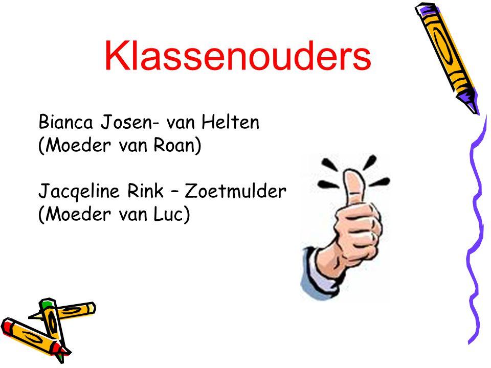 Klassenouders Bianca Josen- van Helten (Moeder van Roan)