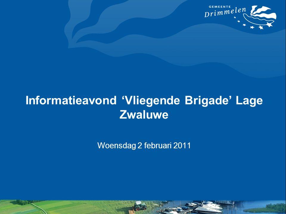 Informatieavond 'Vliegende Brigade' Lage Zwaluwe