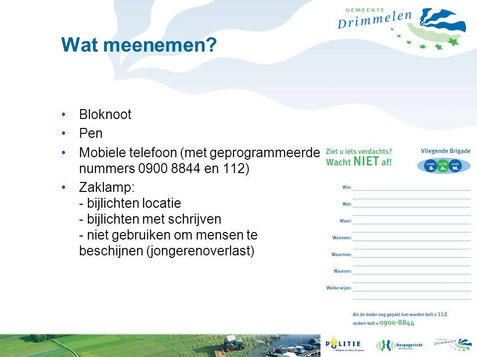 Wat meenemen Bloknoot Pen