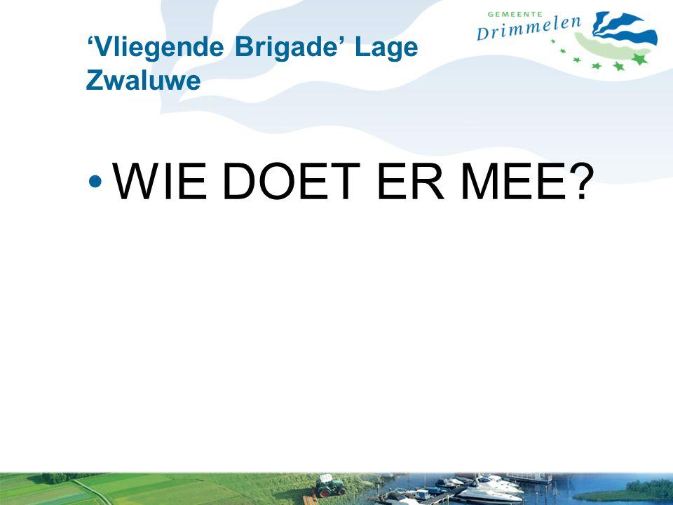 'Vliegende Brigade' Lage Zwaluwe