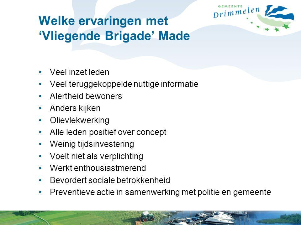 Welke ervaringen met 'Vliegende Brigade' Made