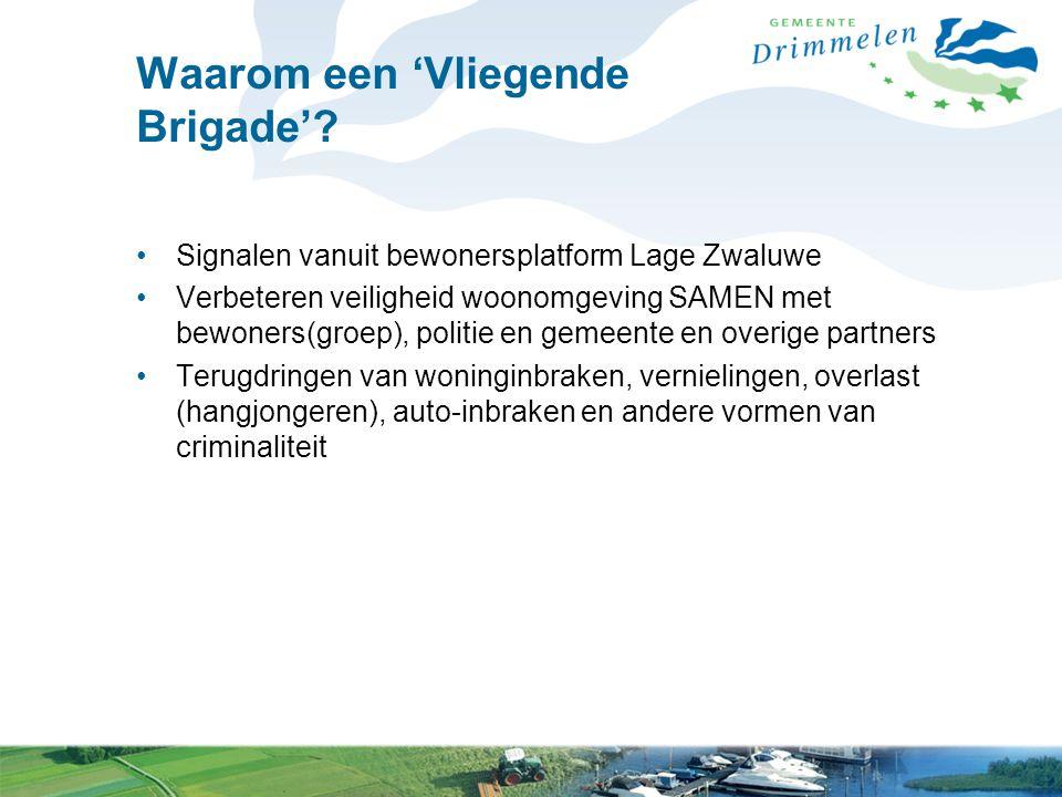 Waarom een 'Vliegende Brigade'