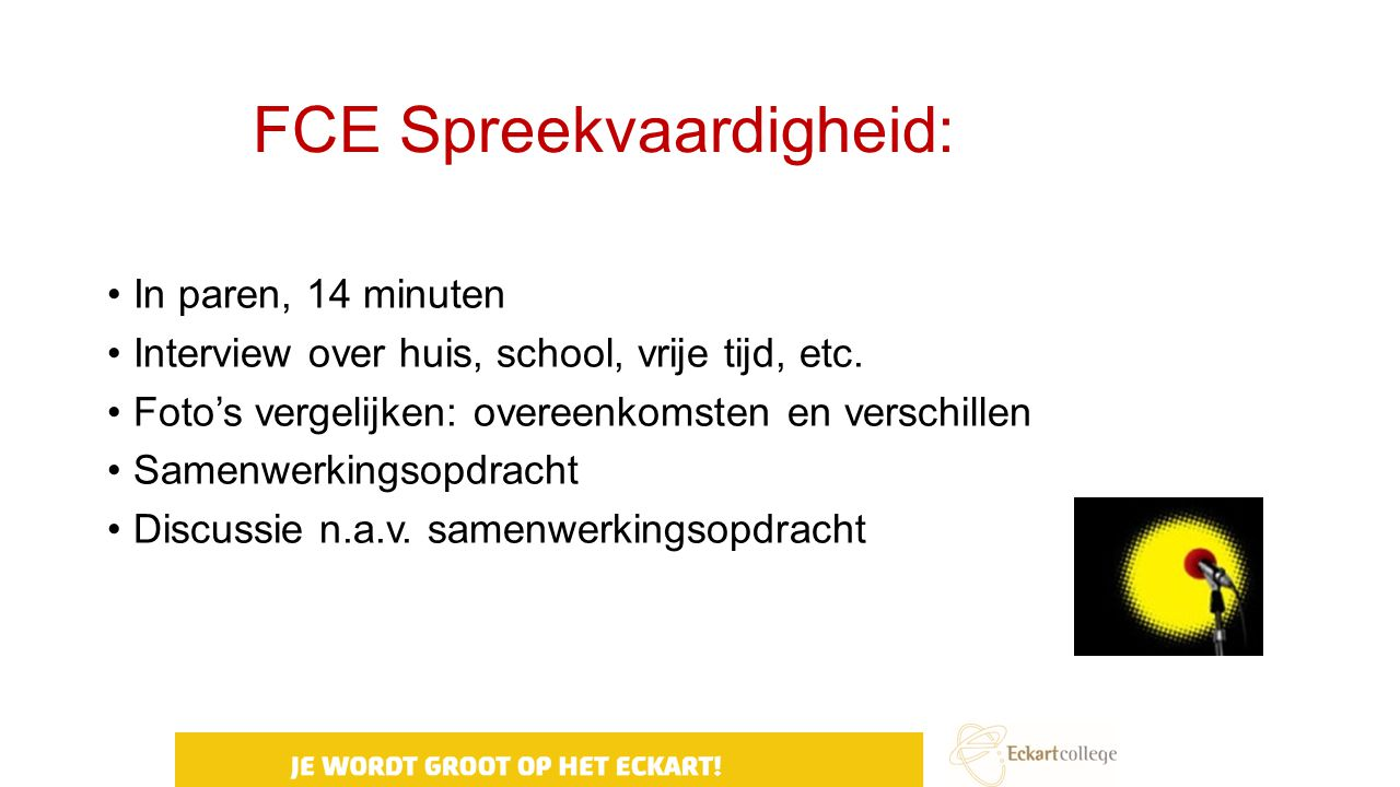 FCE Spreekvaardigheid: