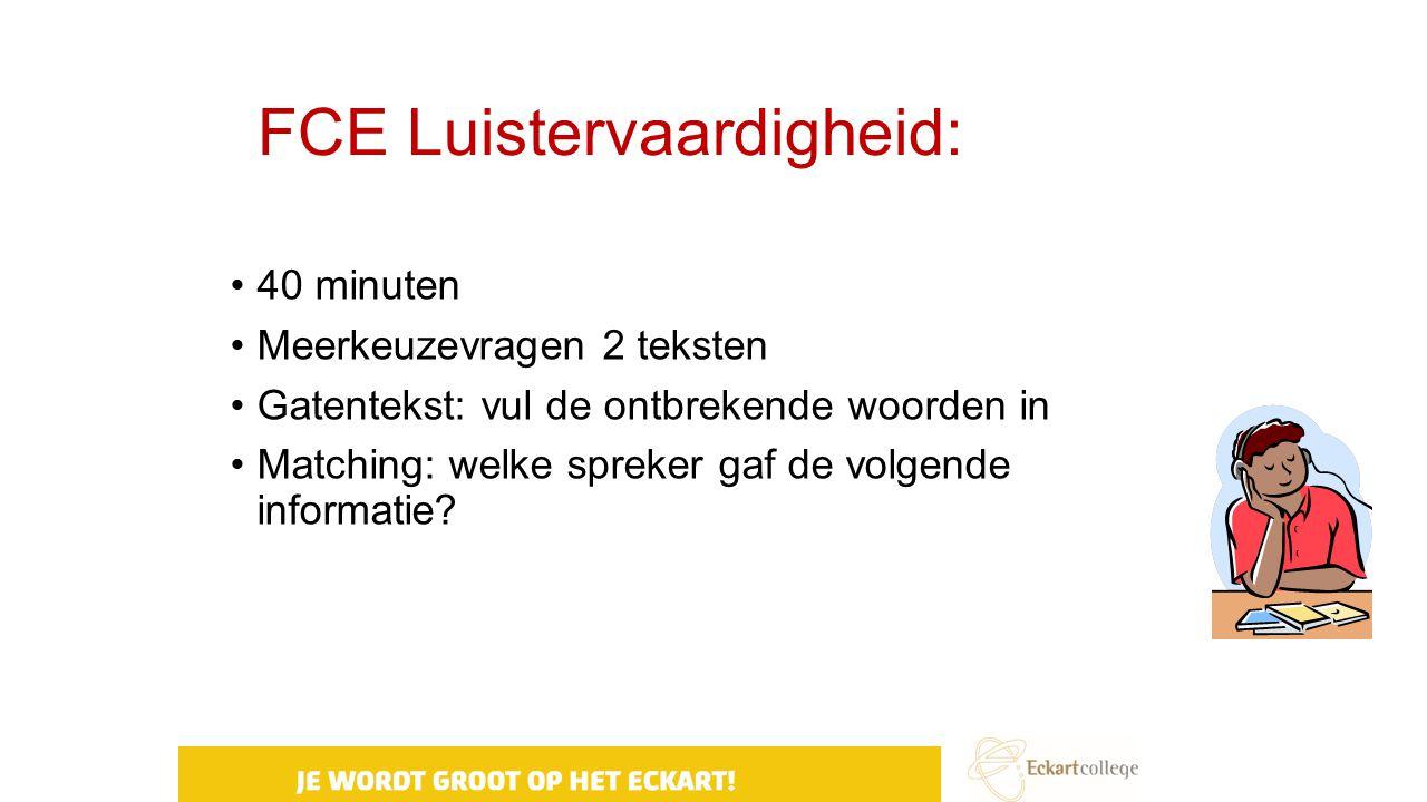 FCE Luistervaardigheid: