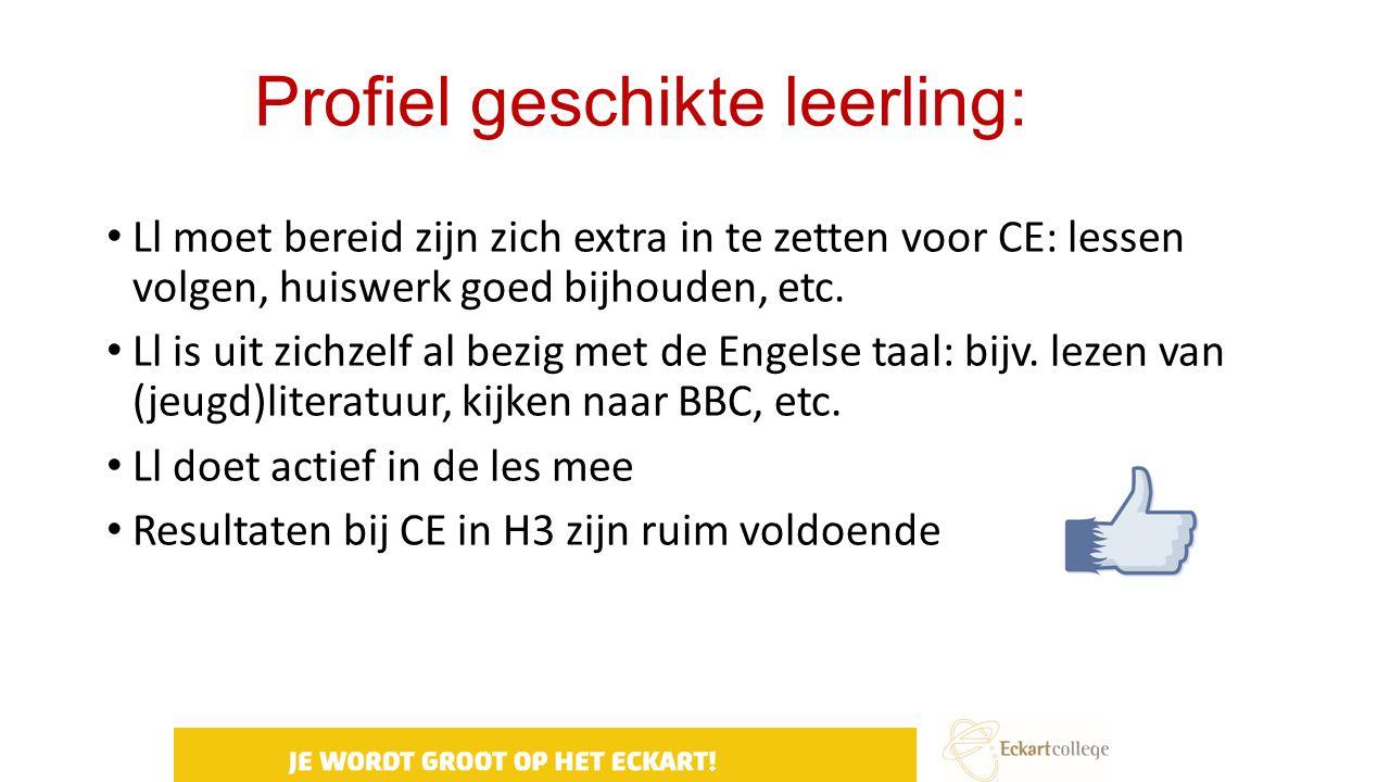 Profiel geschikte leerling: