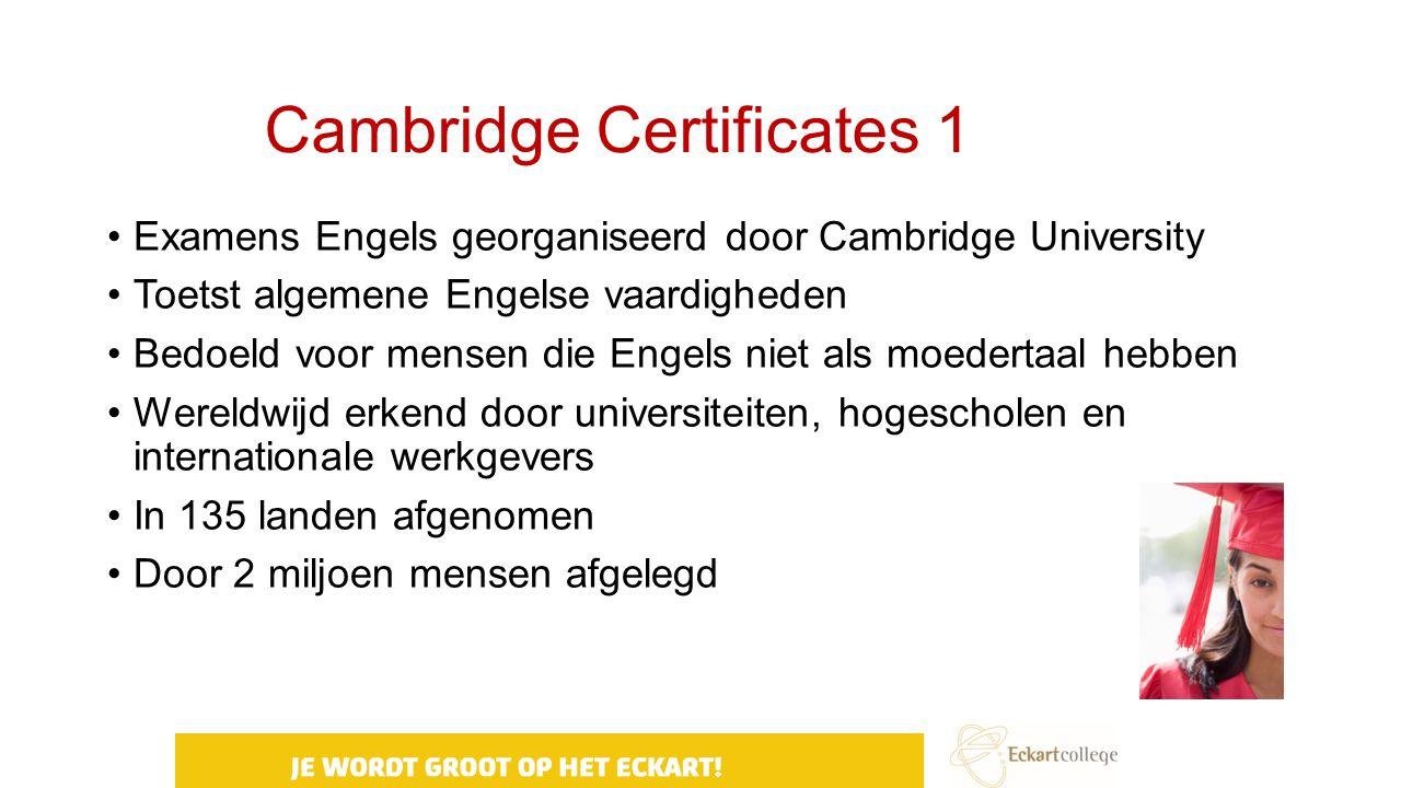 Cambridge Certificates 1