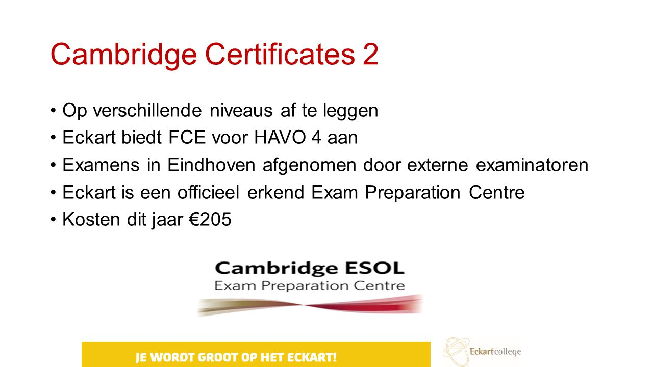 Cambridge Certificates 2