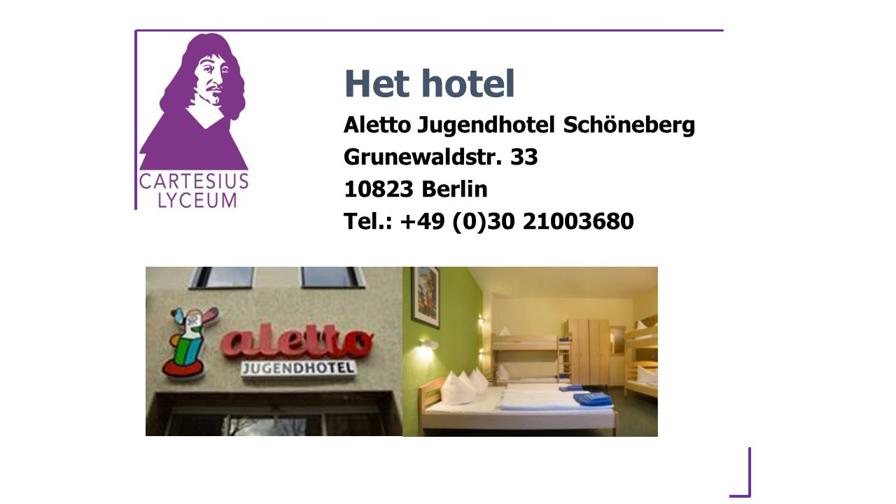 Het hotel Aletto Jugendhotel Schöneberg Grunewaldstr. 33 10823 Berlin