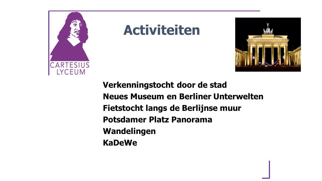 Activiteiten Verkenningstocht door de stad