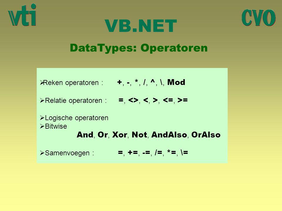 DataTypes: Operatoren