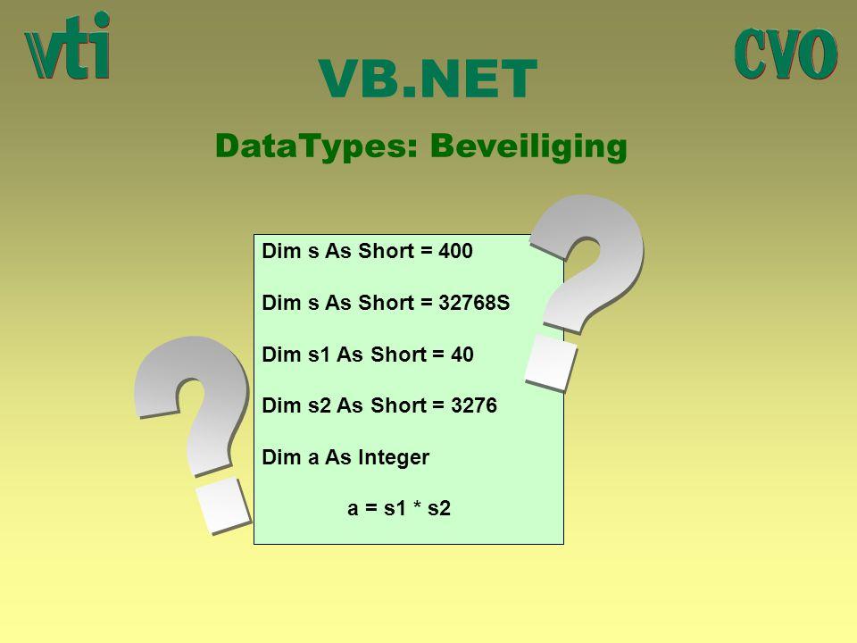 DataTypes: Beveiliging