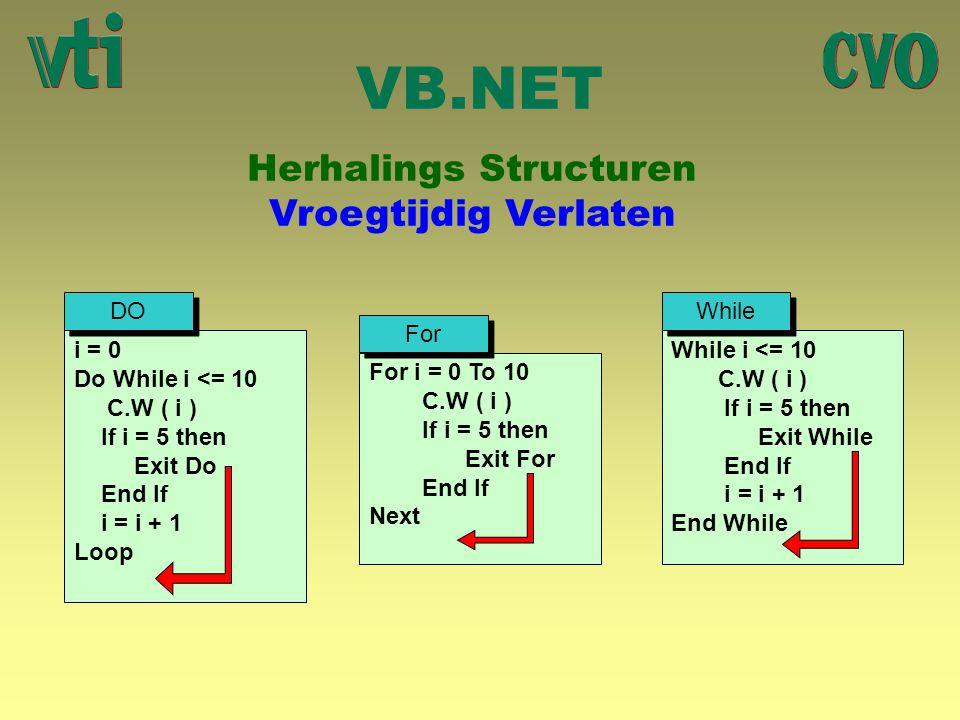 Herhalings Structuren