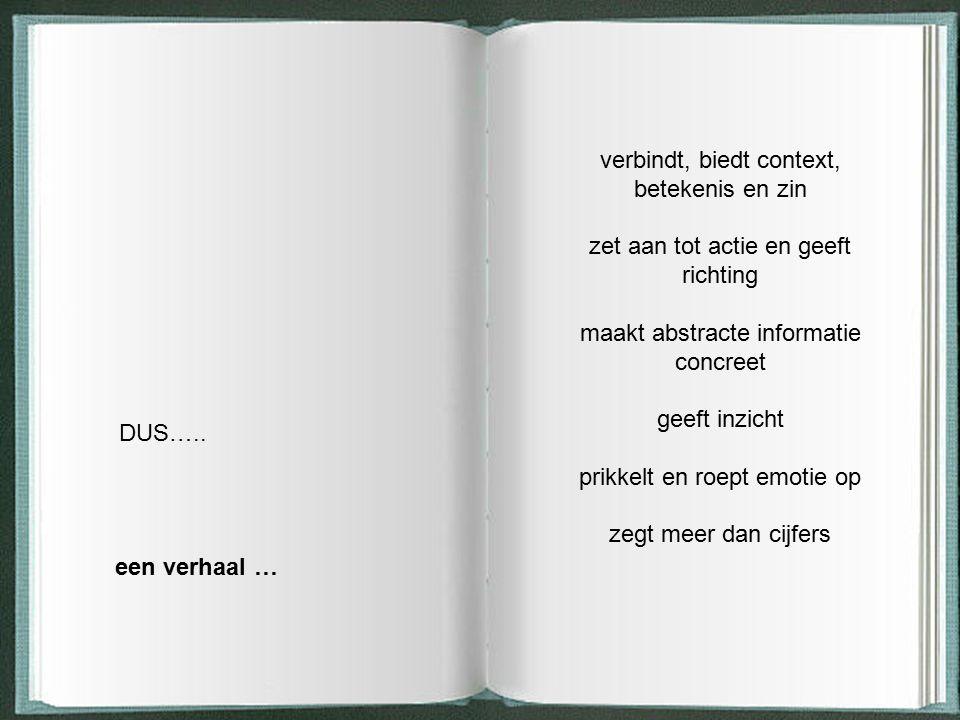 verbindt, biedt context, betekenis en zin