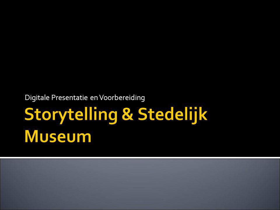 Storytelling & Stedelijk Museum