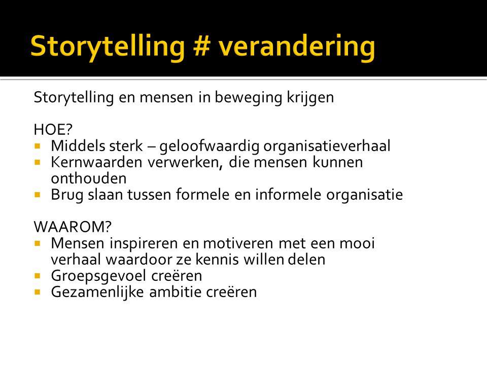 Storytelling # verandering