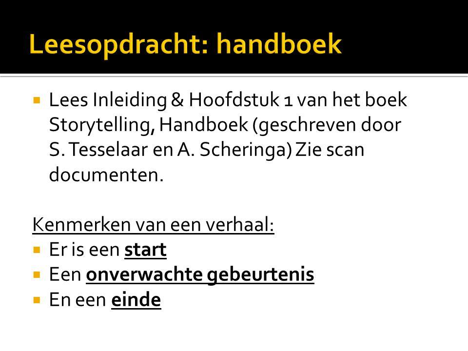 Leesopdracht: handboek