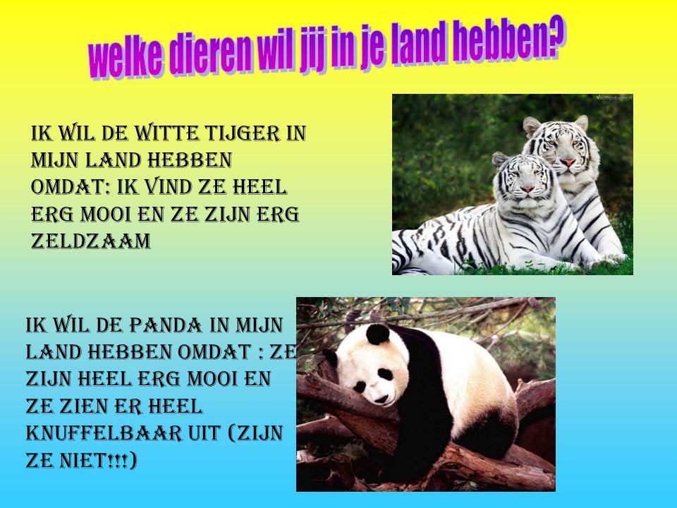 welke dieren wil jij in je land hebben