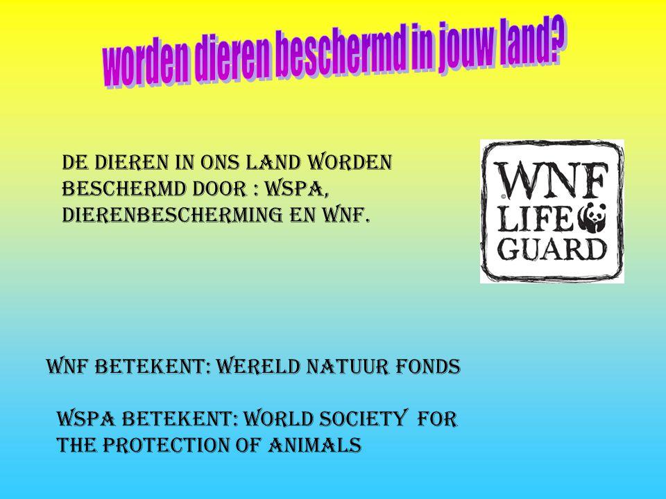 worden dieren beschermd in jouw land