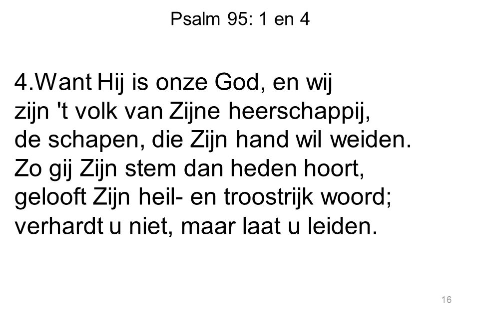 Psalm 95: 1 en 4