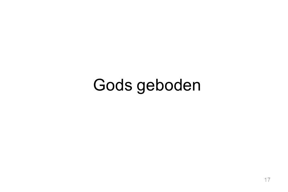 Gods geboden