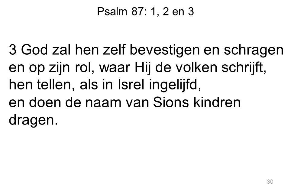 Psalm 87: 1, 2 en 3