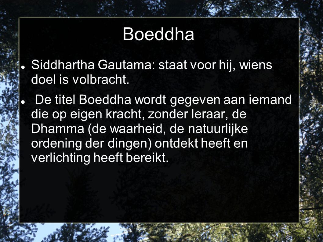 Boeddha Siddhartha Gautama: staat voor hij, wiens doel is volbracht.
