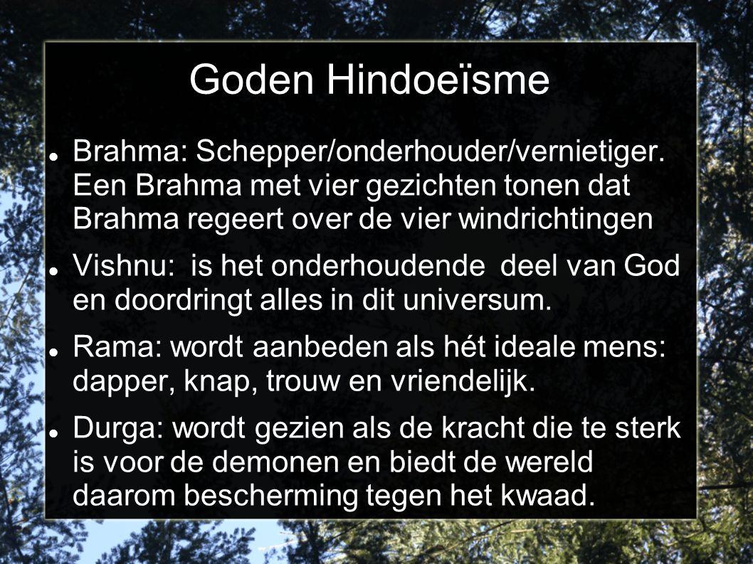 Goden Hindoeïsme Brahma: Schepper/onderhouder/vernietiger. Een Brahma met vier gezichten tonen dat Brahma regeert over de vier windrichtingen.