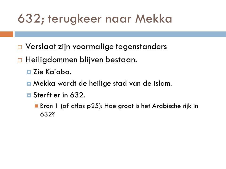 632; terugkeer naar Mekka Verslaat zijn voormalige tegenstanders