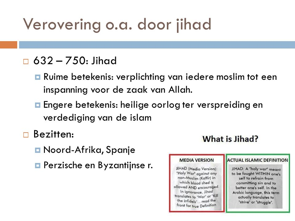 Verovering o.a. door jihad