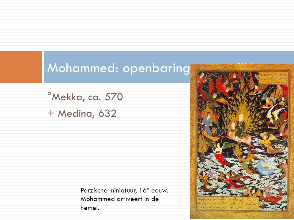 Mohammed: openbaring en prediking
