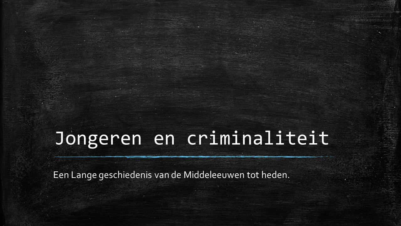 Jongeren en criminaliteit