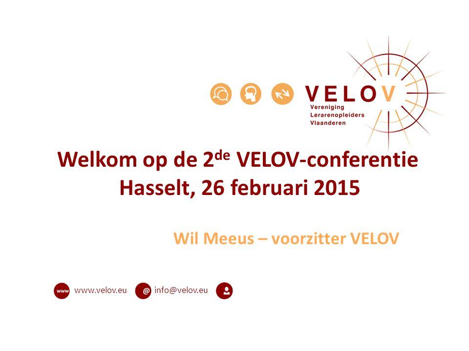 Welkom op de 2de VELOV-conferentie Hasselt, 26 februari 2015